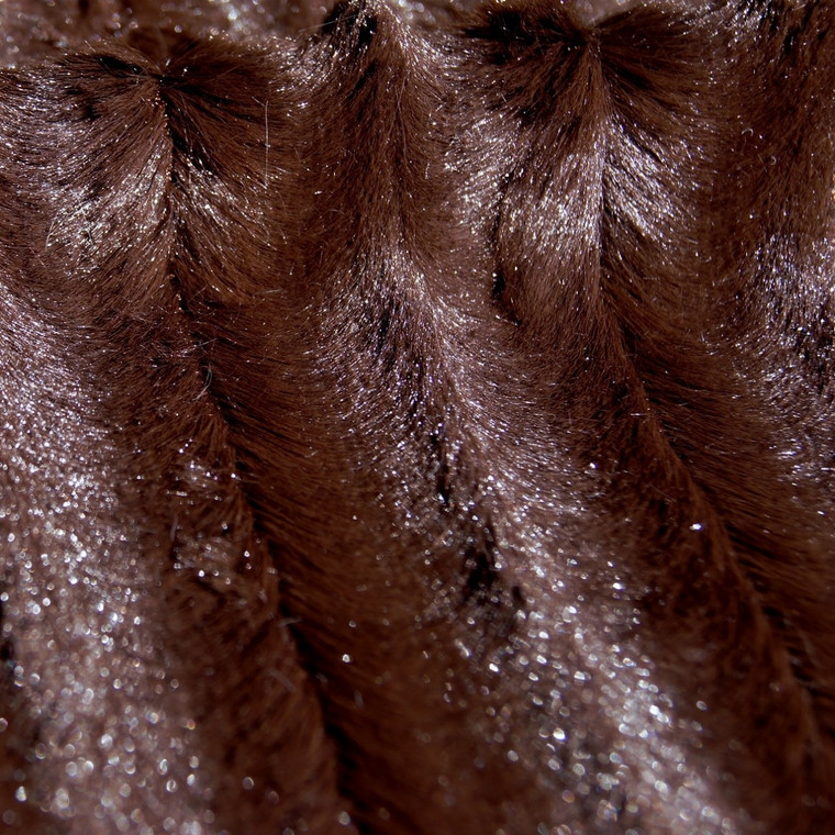 Brown Mink Animal Faux Fur Fabric