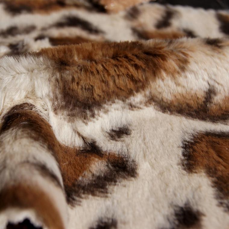 Giraffe Animal Print Faux Fur Minky Fabric