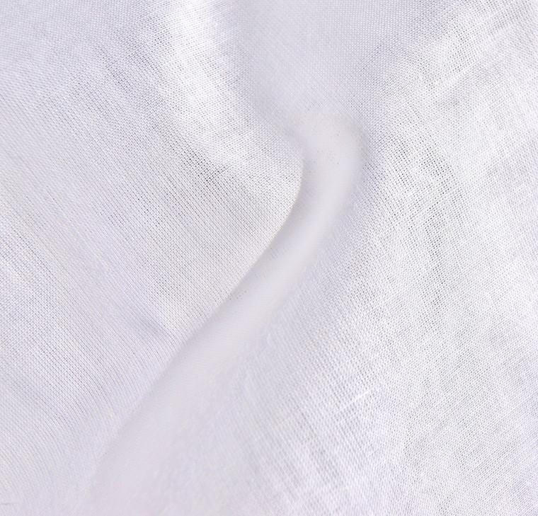 Organic Cotton Voile Fabric White