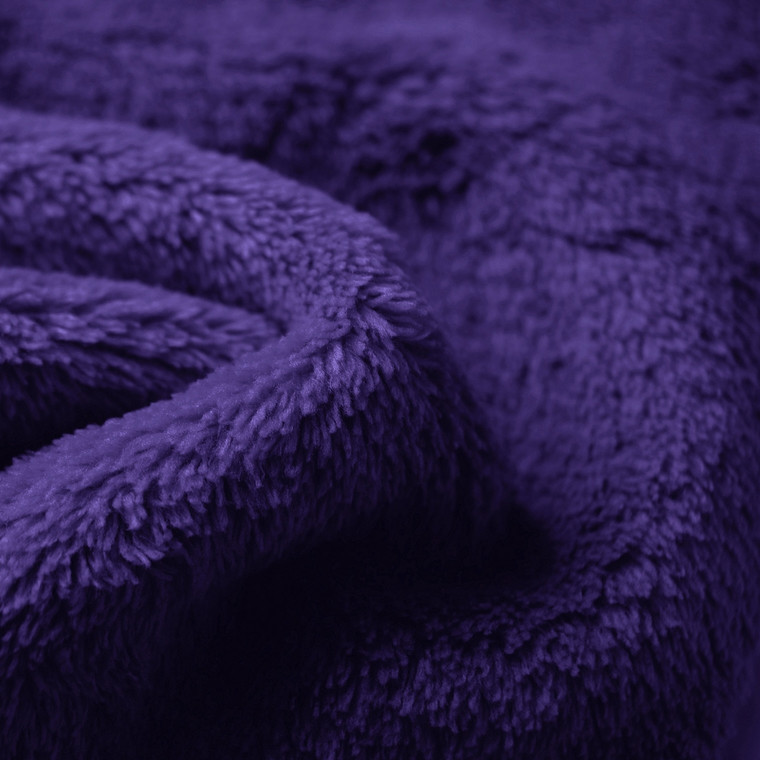 Purple Double sided cuddle Fleece Wholesale