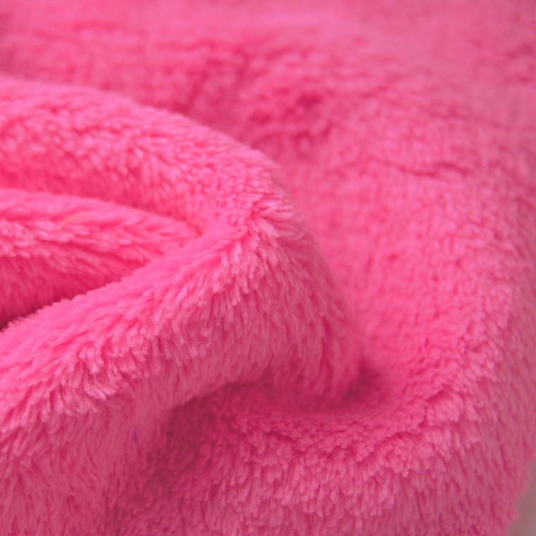 Medium Pink Double sided cuddle Fleece Wholesale