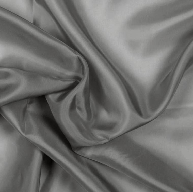 Charcoal Grey Pongee Lining Fabric