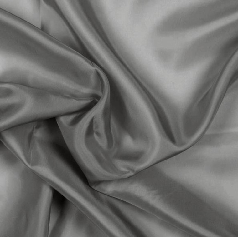 Charcoal Grey Pongee Lining Fabric