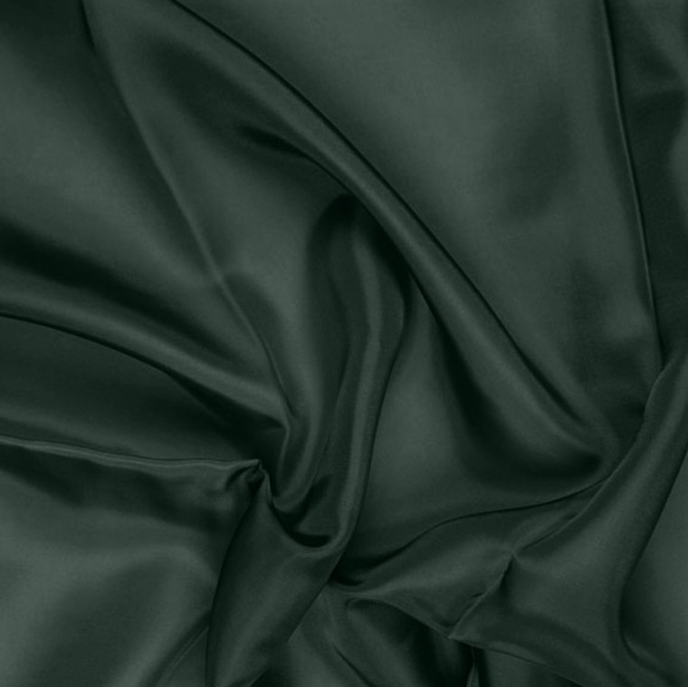 Hunter Green Pongee Lining Fabric