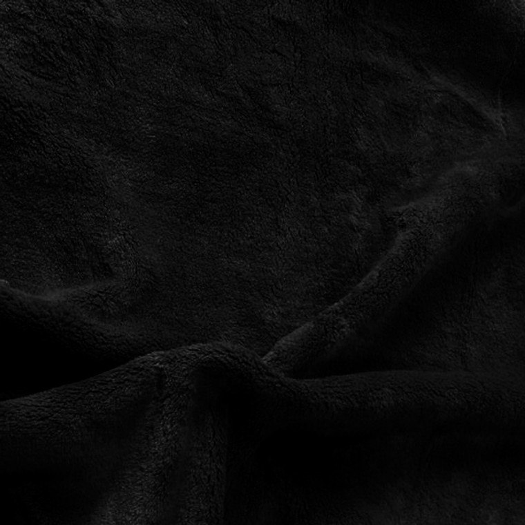Solid Black Minky Fabric