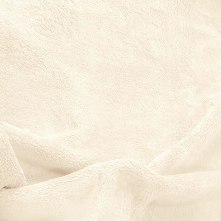 Solid Ivory Minky Fabric