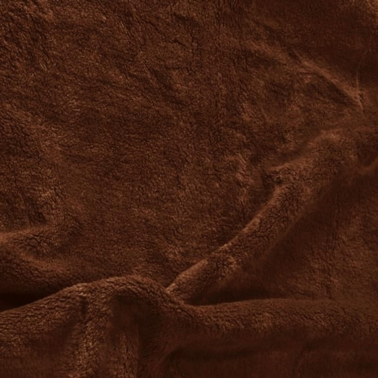 Solid Brown Minky Fabric