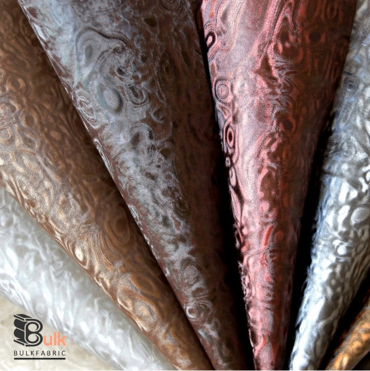 WATER SHIMMER ILLUSION FAUX LEATHER VINYL UPHOLSTERY BULK FABRIC