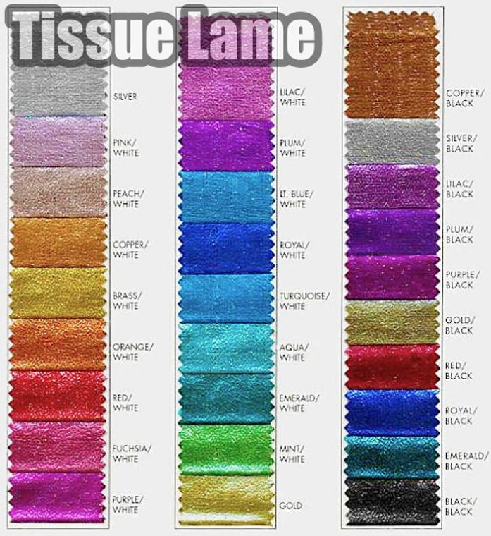 "Tissue Lame Fabric Wholesale | Metallic Tissue Lame 45"" wide | Craft Decoration Costume Design"