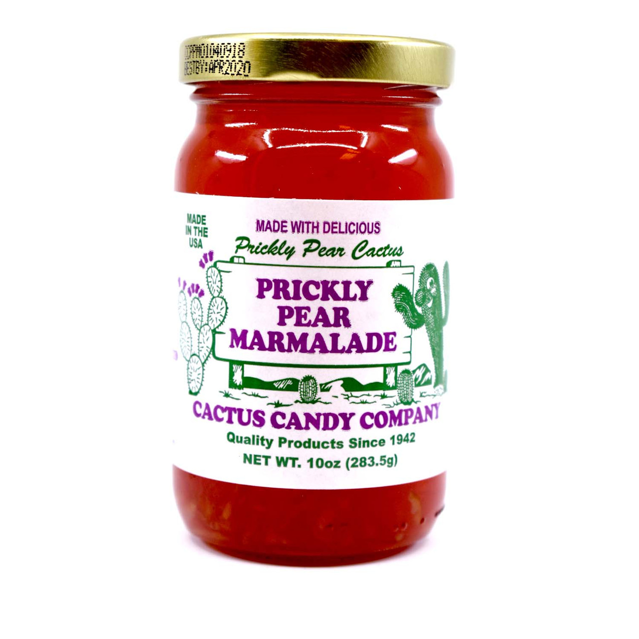Prickly Pear Maramalade 10oz Glass Jar