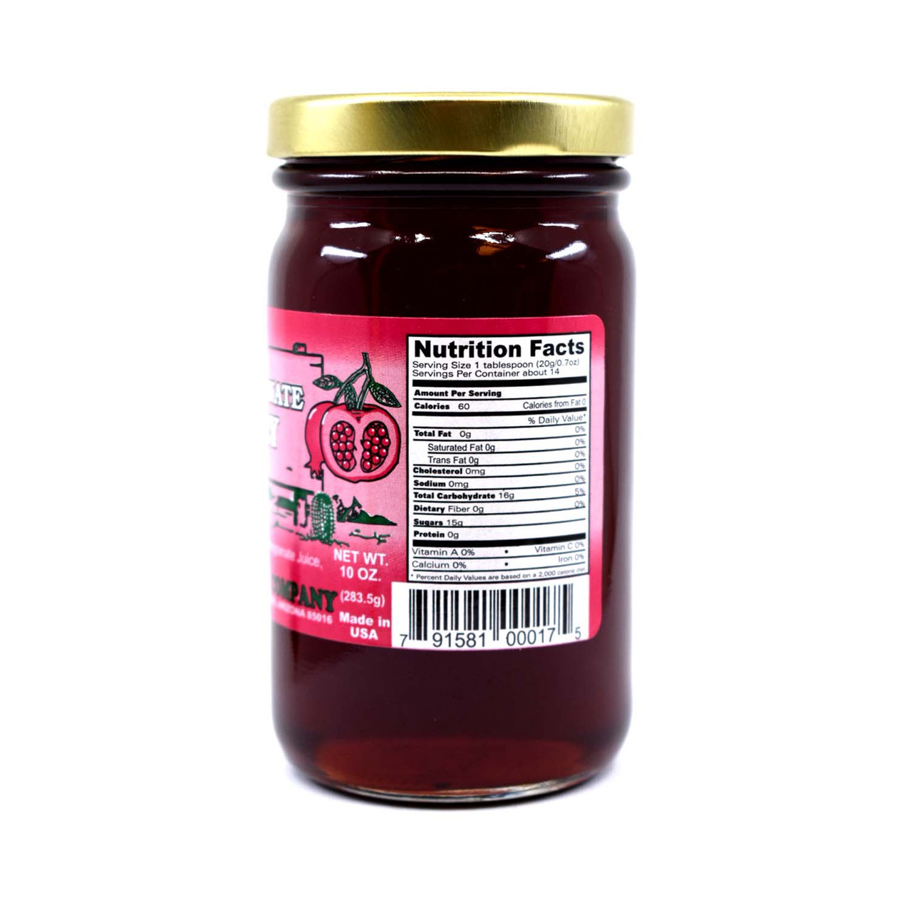 Pomegranate Jelly 10oz Glass Jar