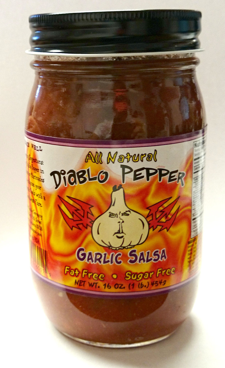Diablo Pepper GARLIC Salsa 16oz