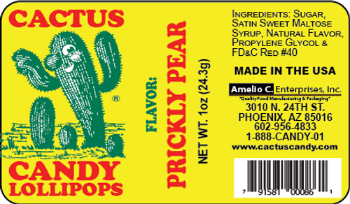 Cactus Candy™ Lollipop RED