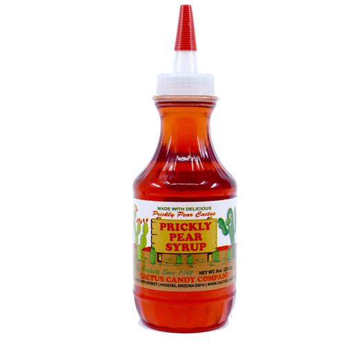 Prickly Pear Syrup 8oz Plastic Squeeze Bottle
