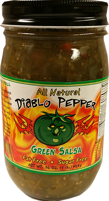 Diablo Pepper GREEN Salsa 16oz