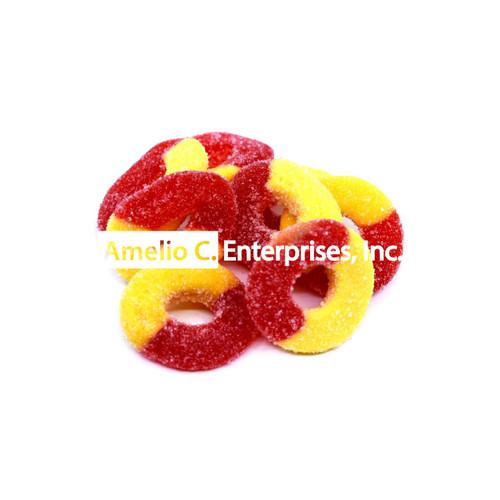 PEACHIE GUMMIES (Peach flavored rings) 4oz