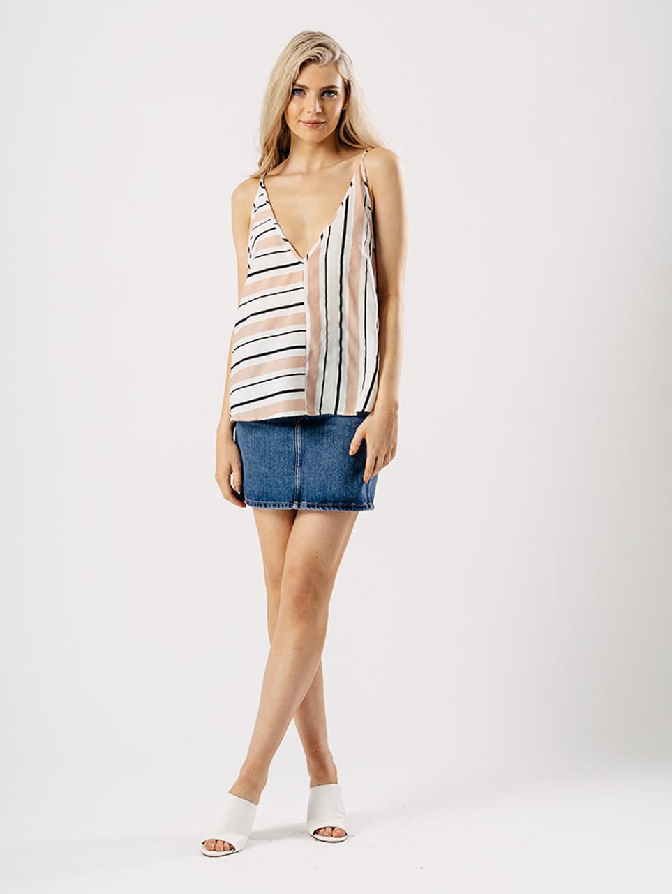 Two Way Stripe Cami Top