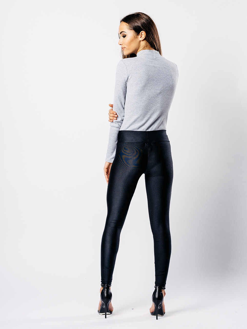 Black Jersey Disco Leggings
