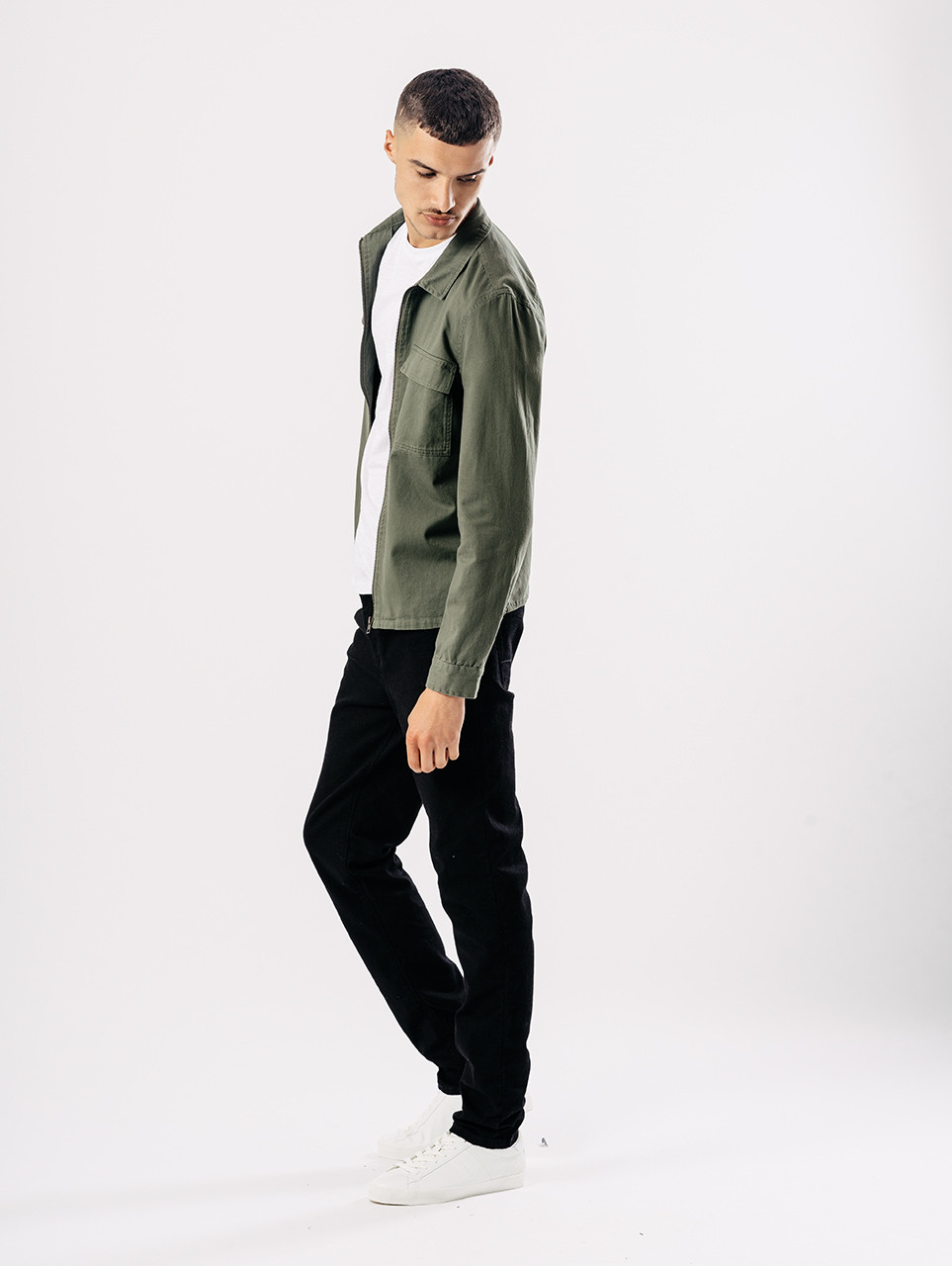 Green Zip Through Overshirt