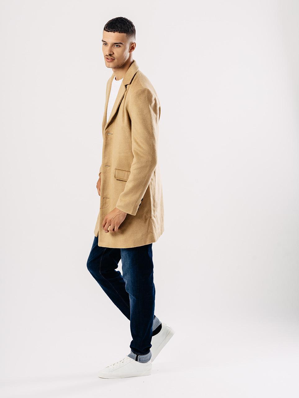 Tan Melton Overcoat