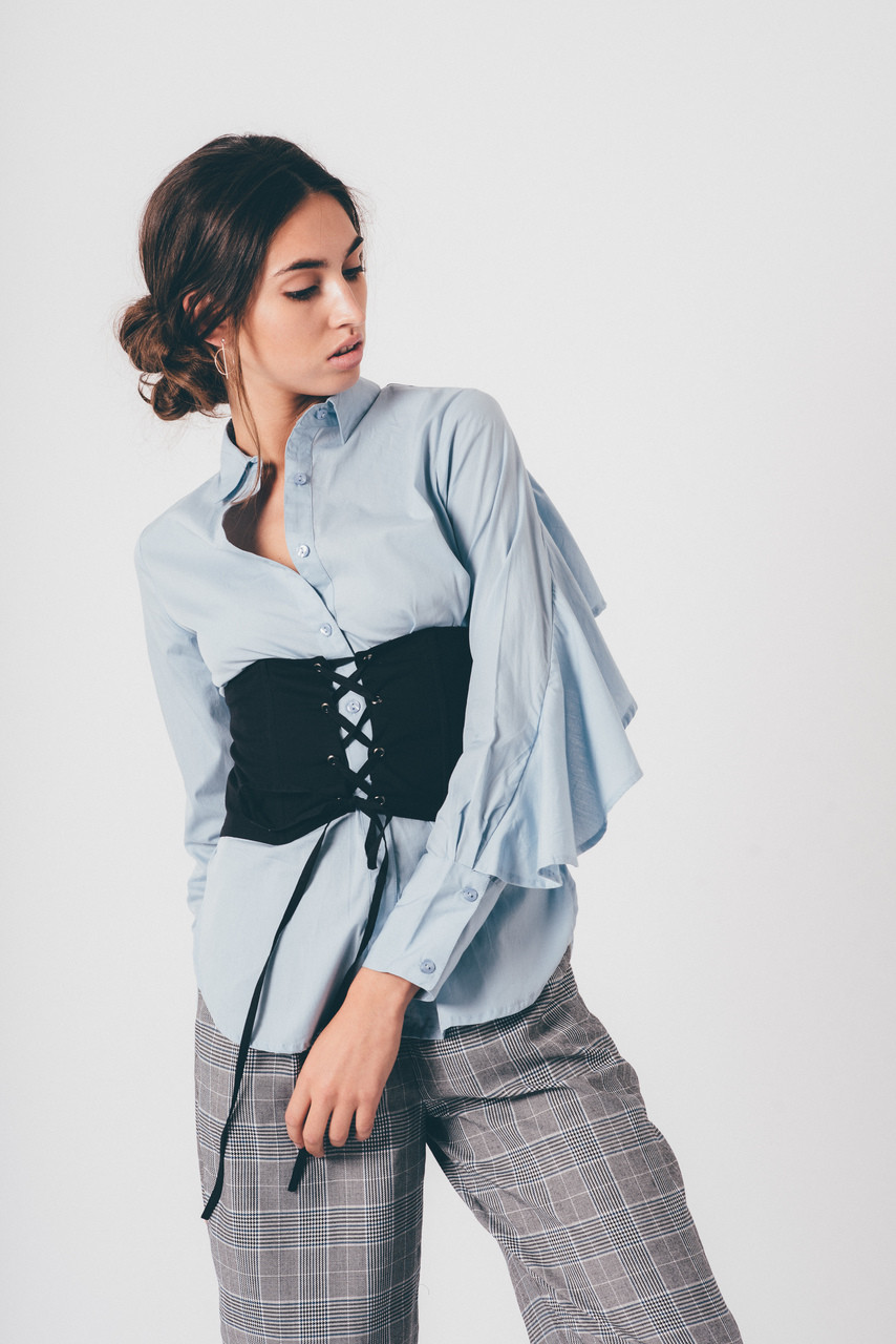 Waist Corset With Tie Front Detail