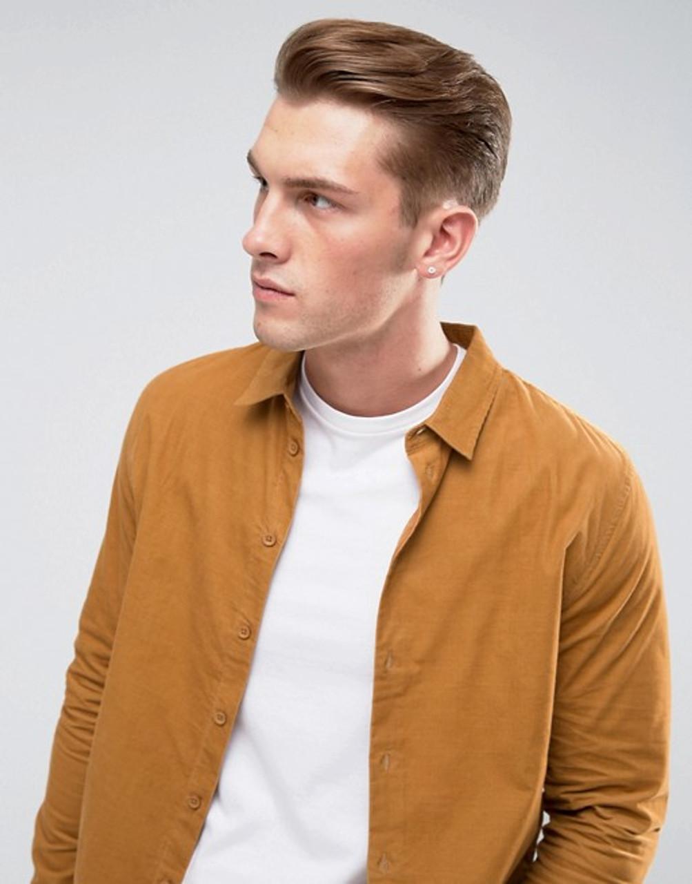 Tan Full sleeve Cord Shirt
