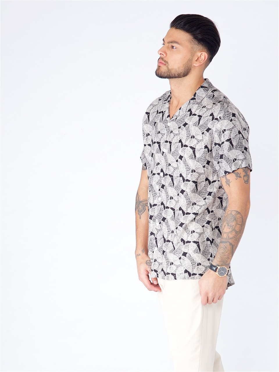 Multi Tropical Print Short Sleeve Shirt
