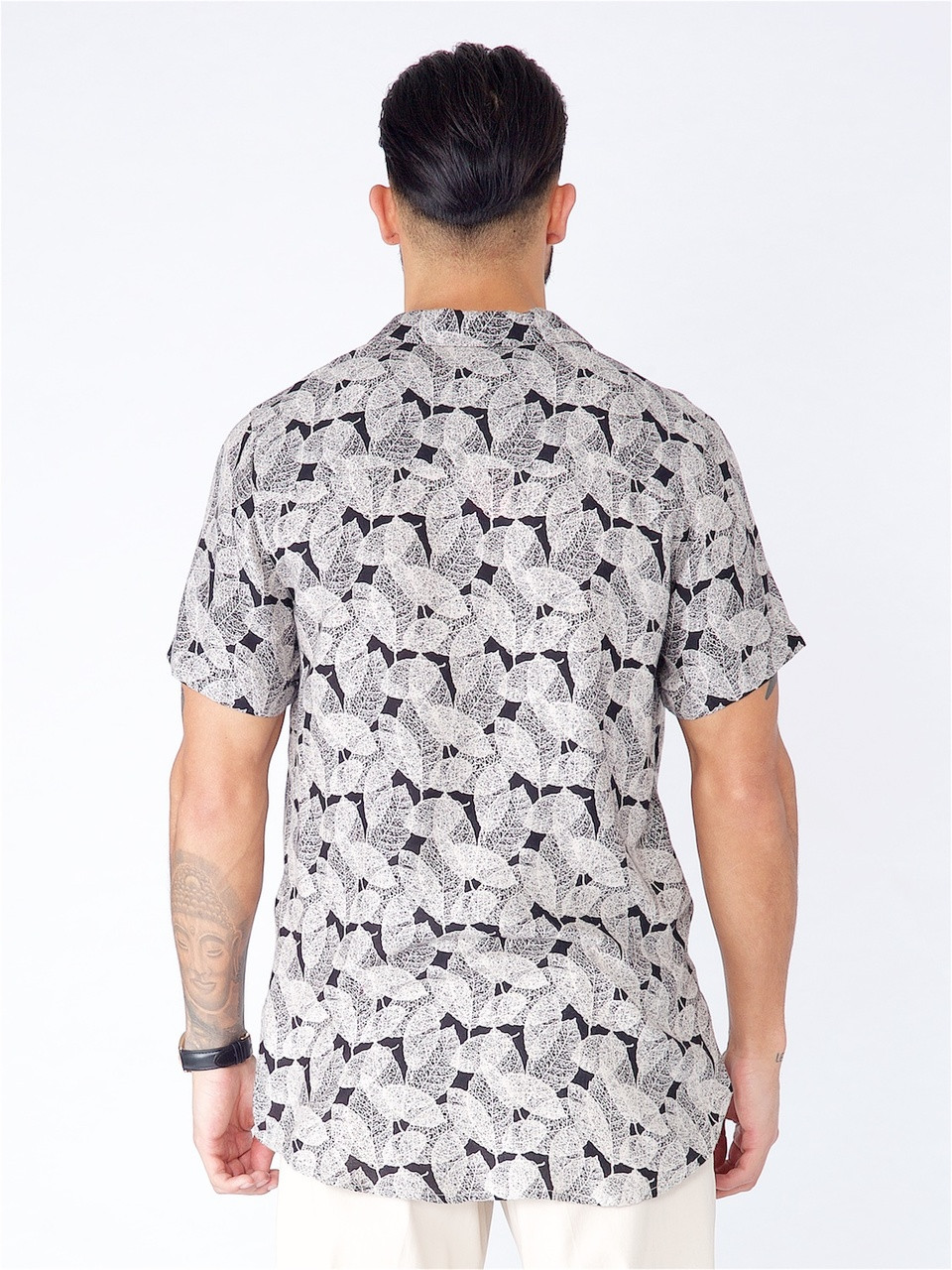 Multi Tropical Print Short Sleeve Shirt