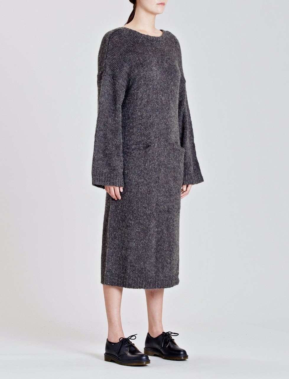 Grey Decode Knitted Dress