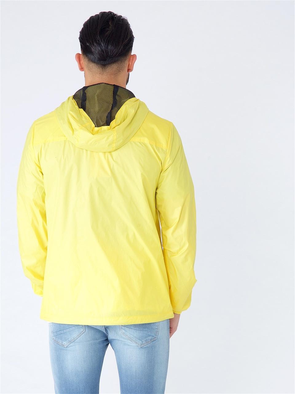 Yellow Light Weight Hooded Windbreaker