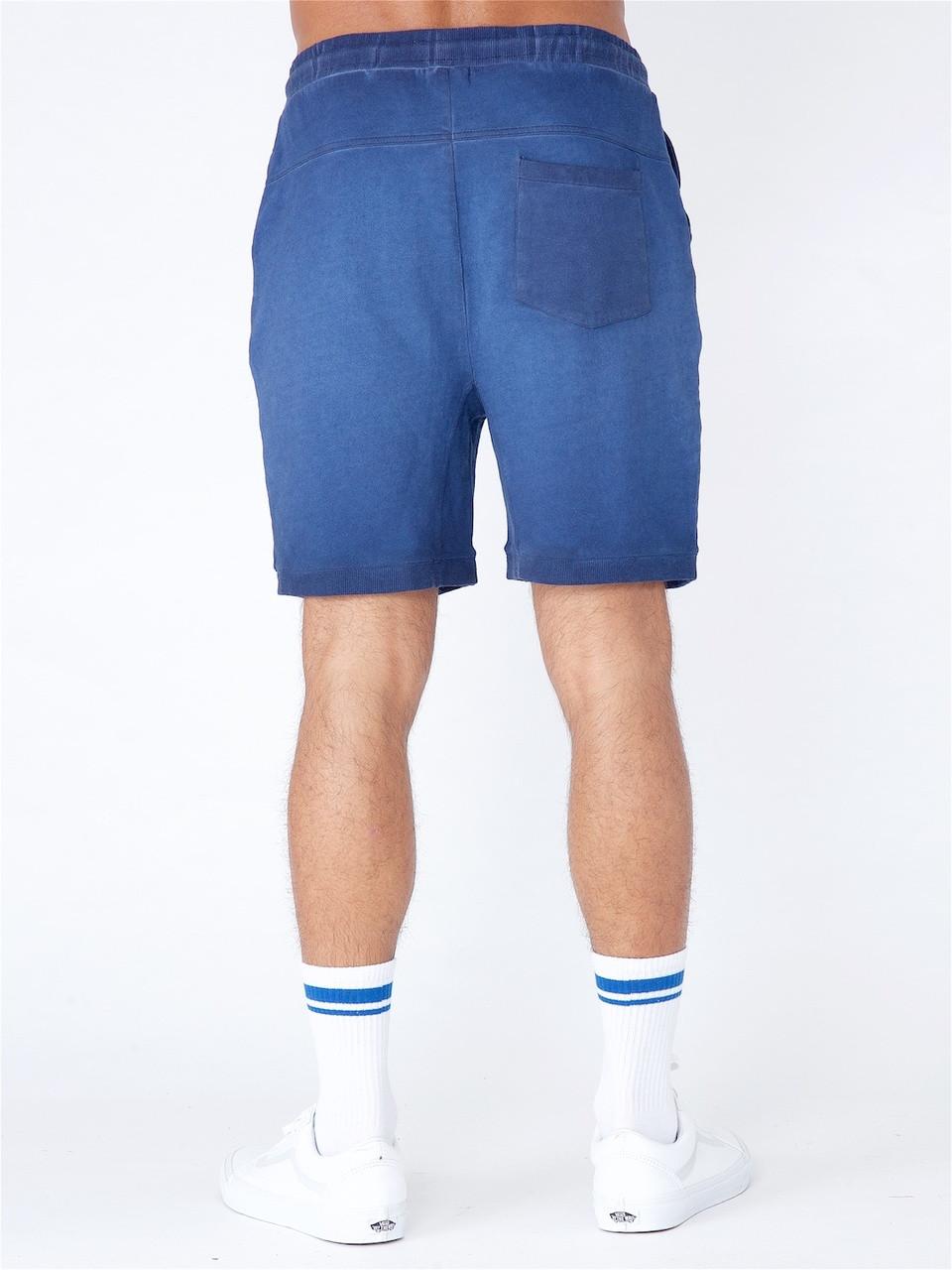 Navy Acid Wash Jersey Shorts