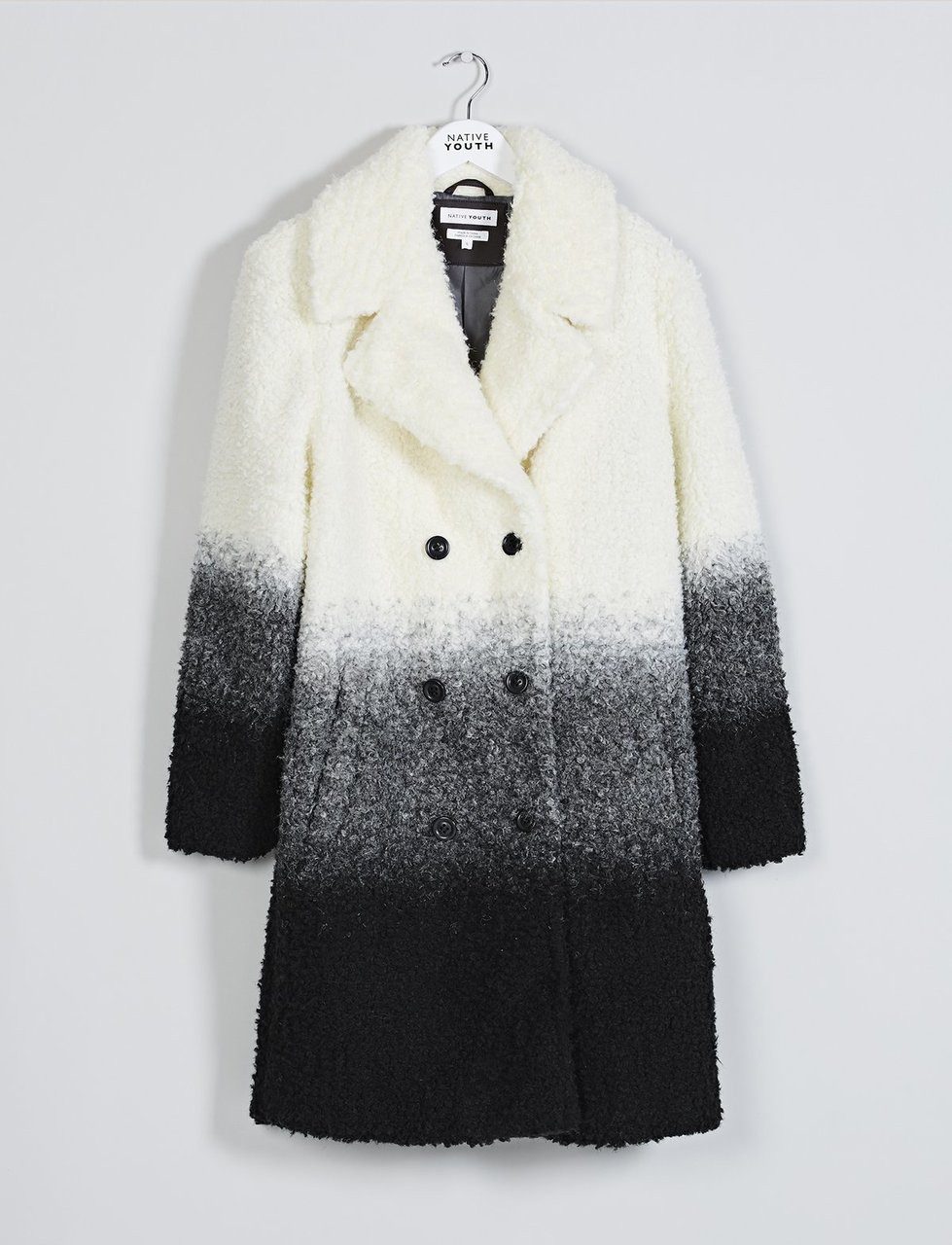 Ecru Ombre Teddy Coat