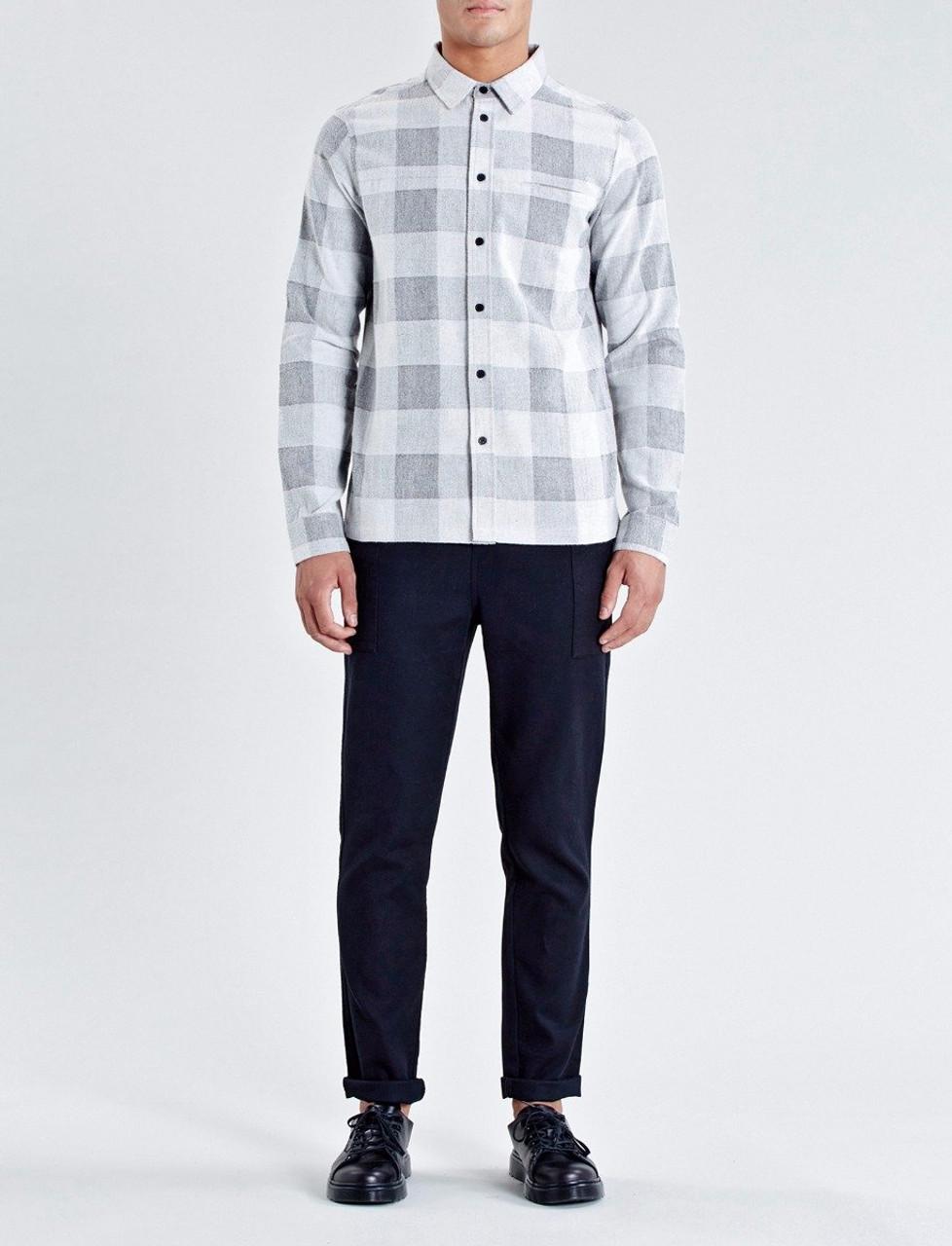 Grey Brentwood Check Straight Hem Shirt