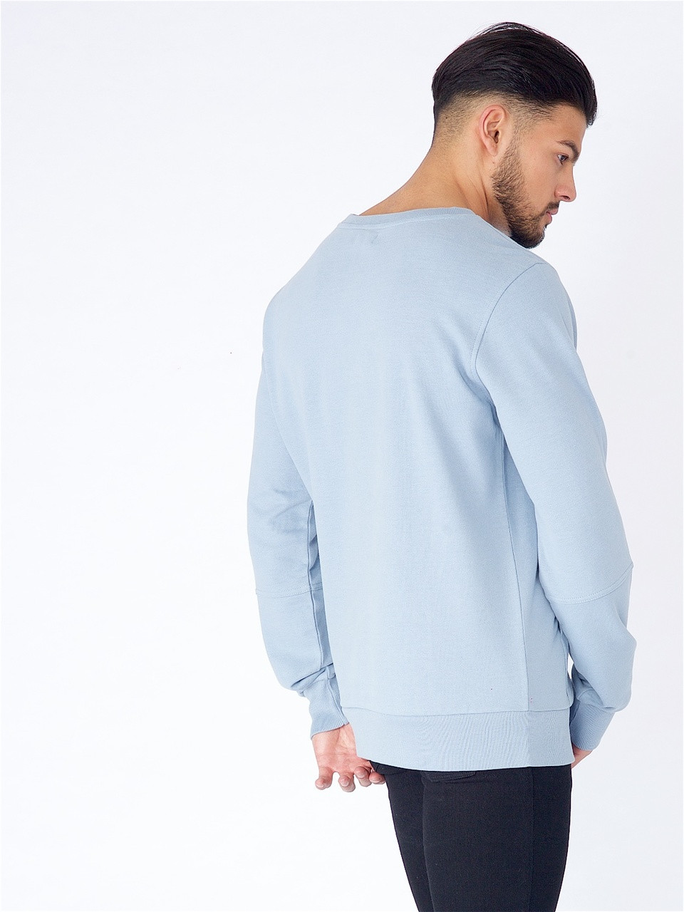 Blue Long Sleeve Sweat with Kangaroo Pocket