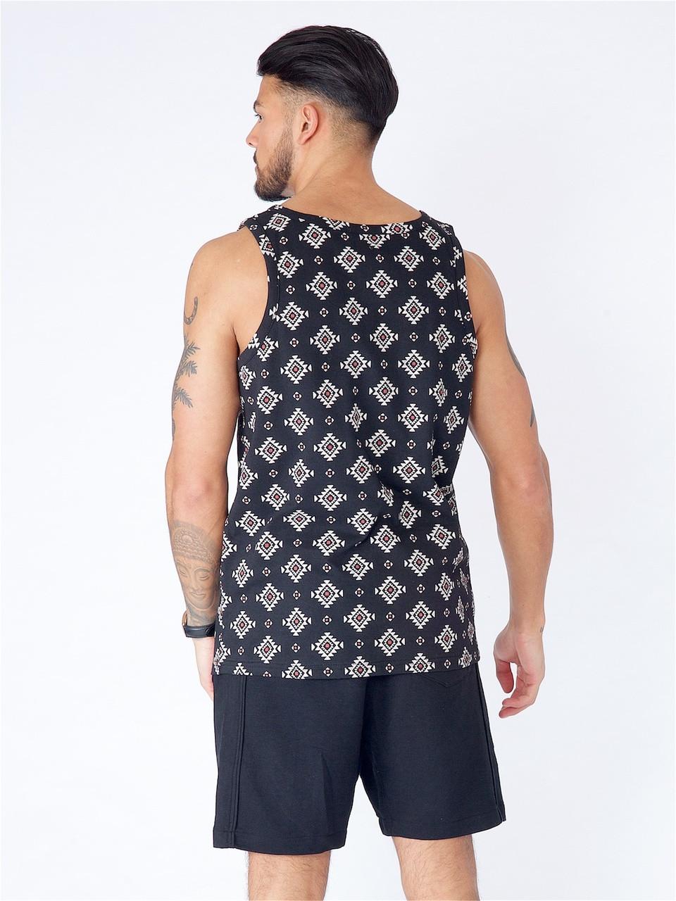 Black Aztec Print Vest
