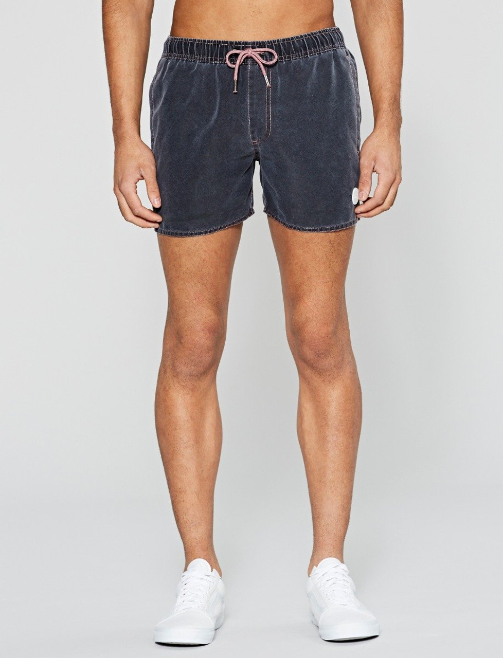 Black Sandside Salt Faded Swim Short