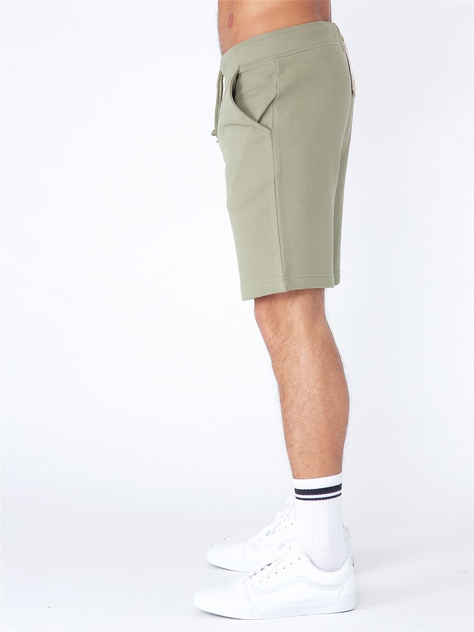 Khaki Jersey Pull on Shorts