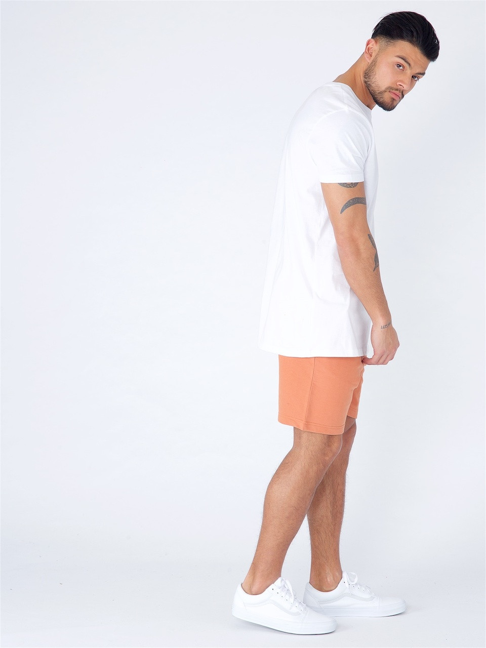 Rust Jersey Pull on Shorts