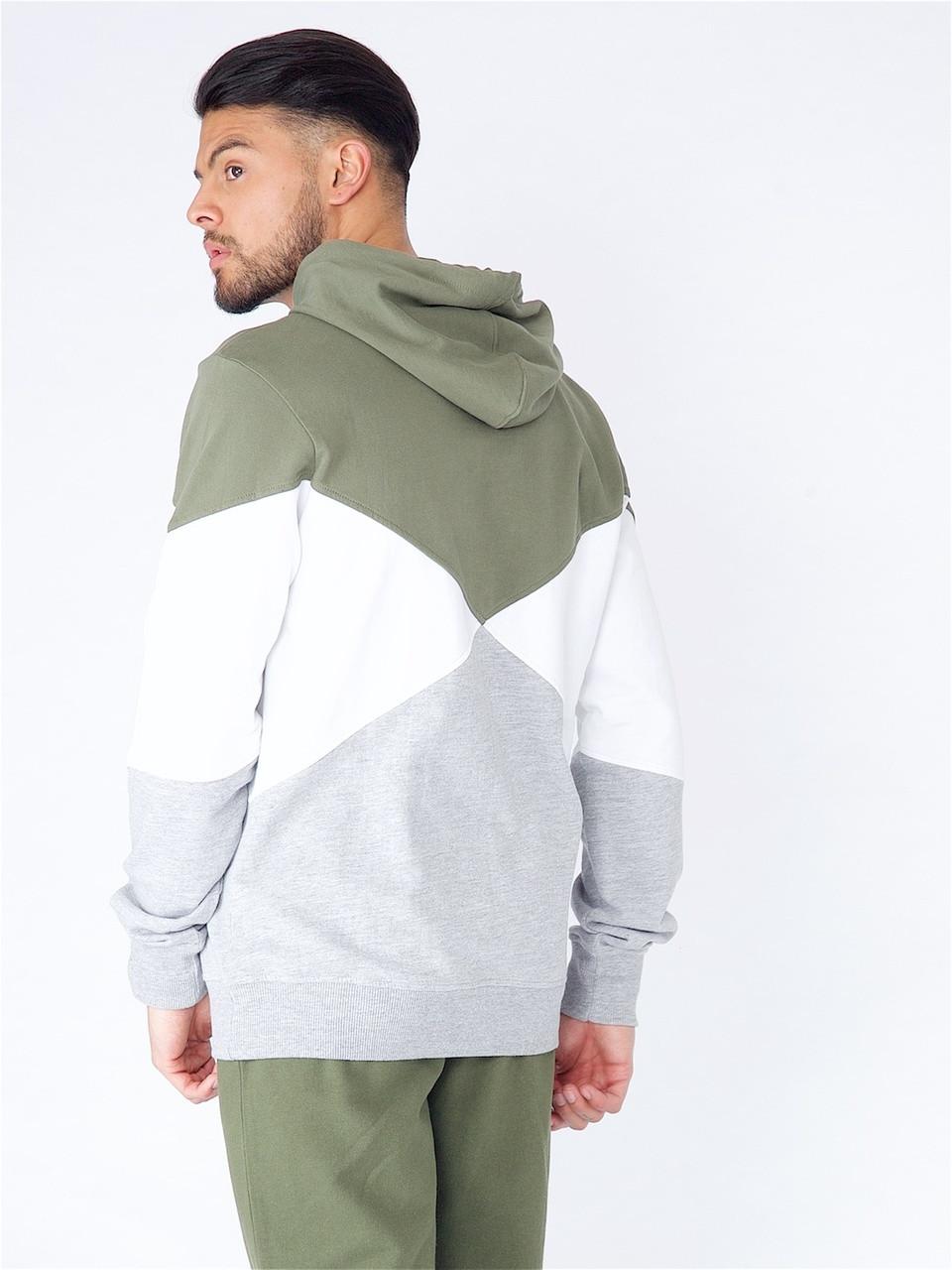 Khaki Cut & Sew Over The Head Hood