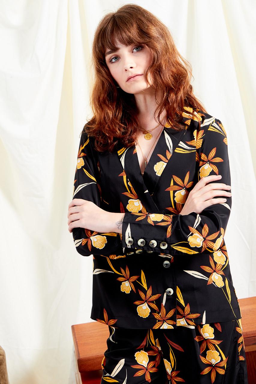 Margot Floral Asymmetric Button Shirt