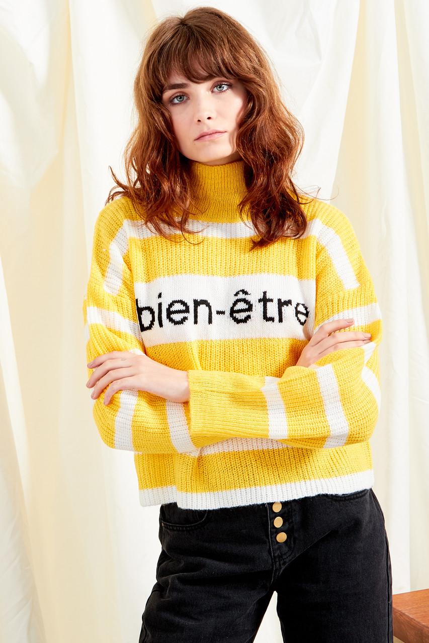 Bien-Être Cropped Stripe Knit Jumper