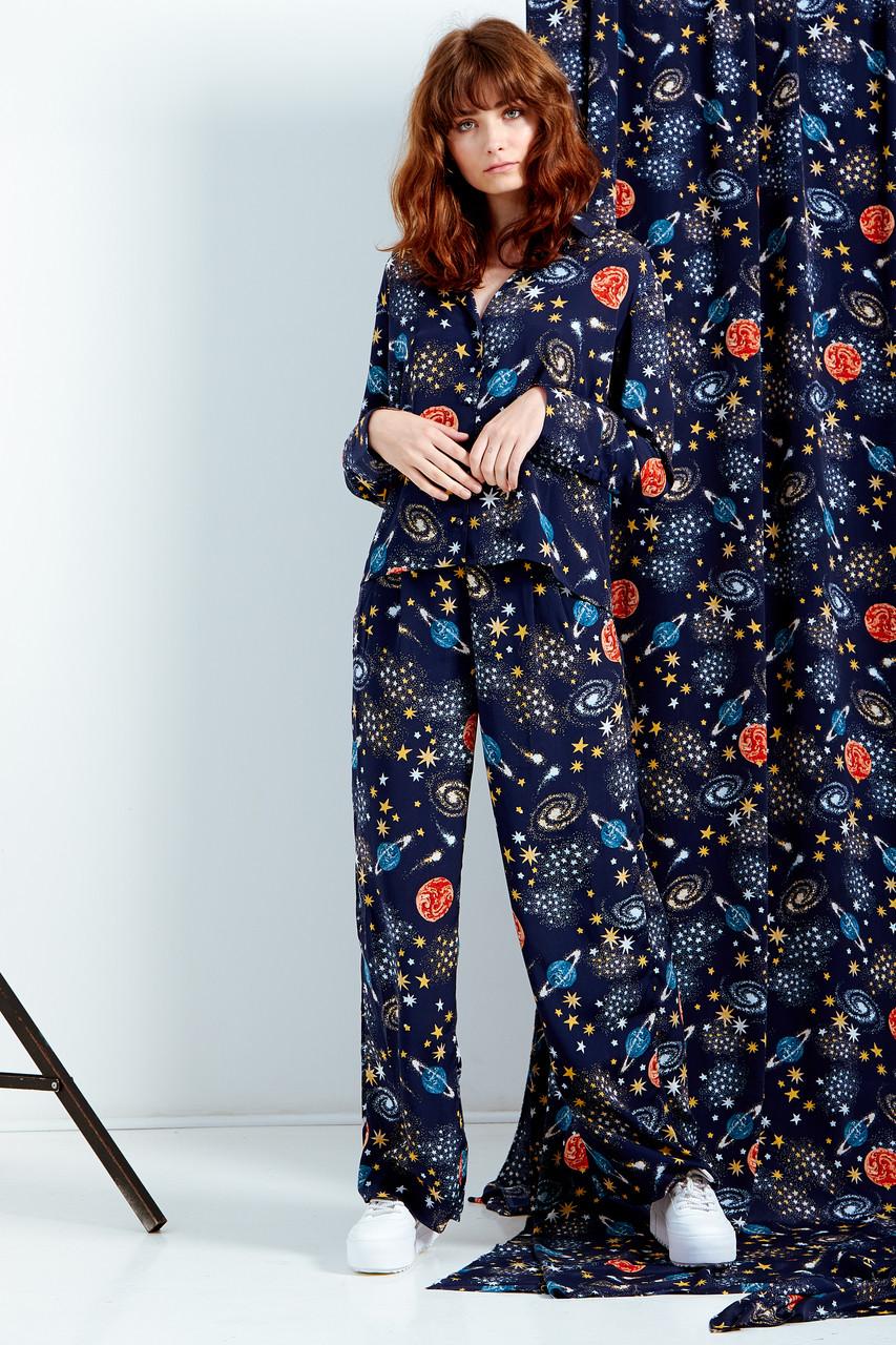 Stella Constellation Print Wide Leg Trousers
