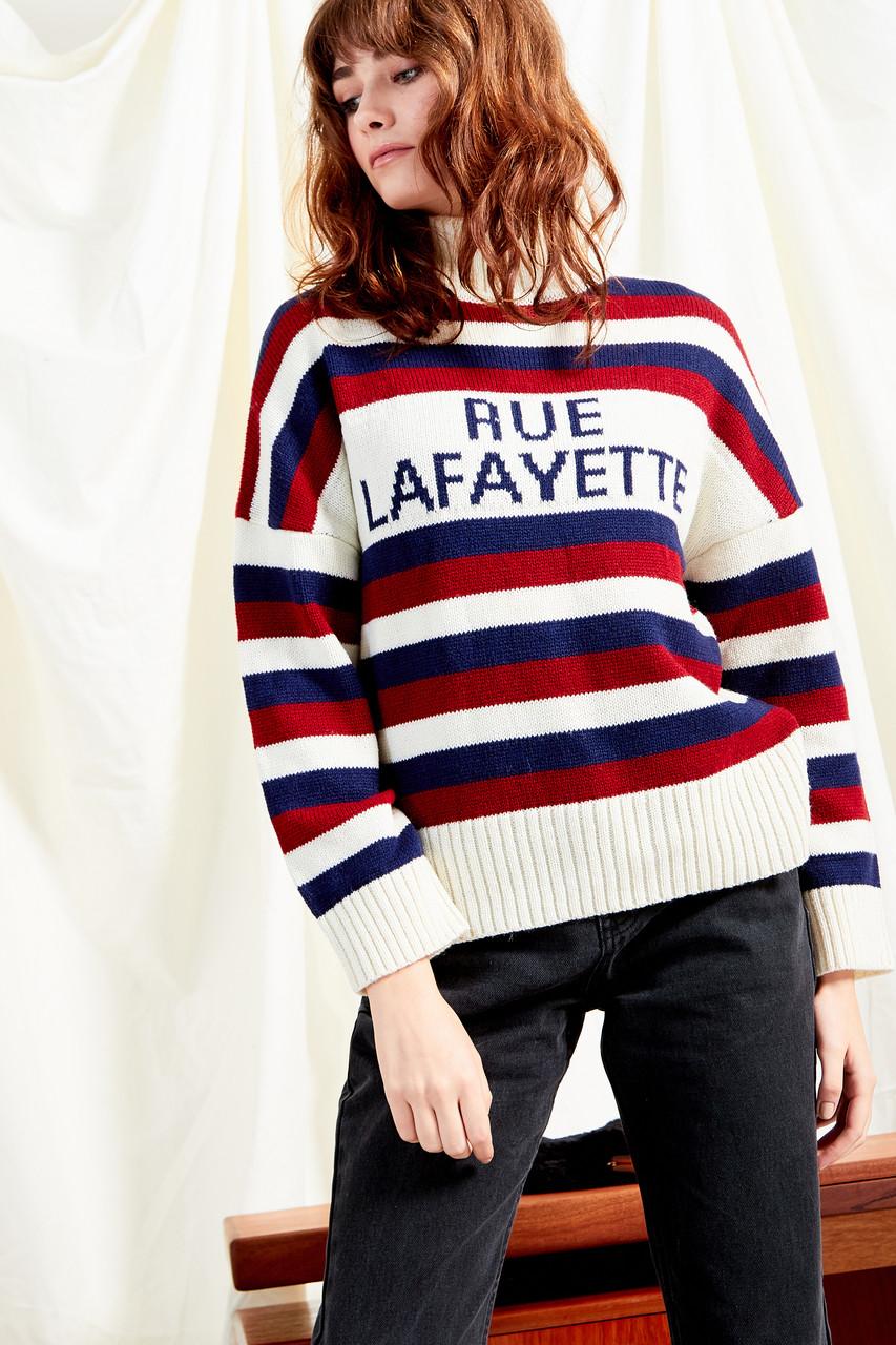 Rue Lafayette Slogan Knit Jumper