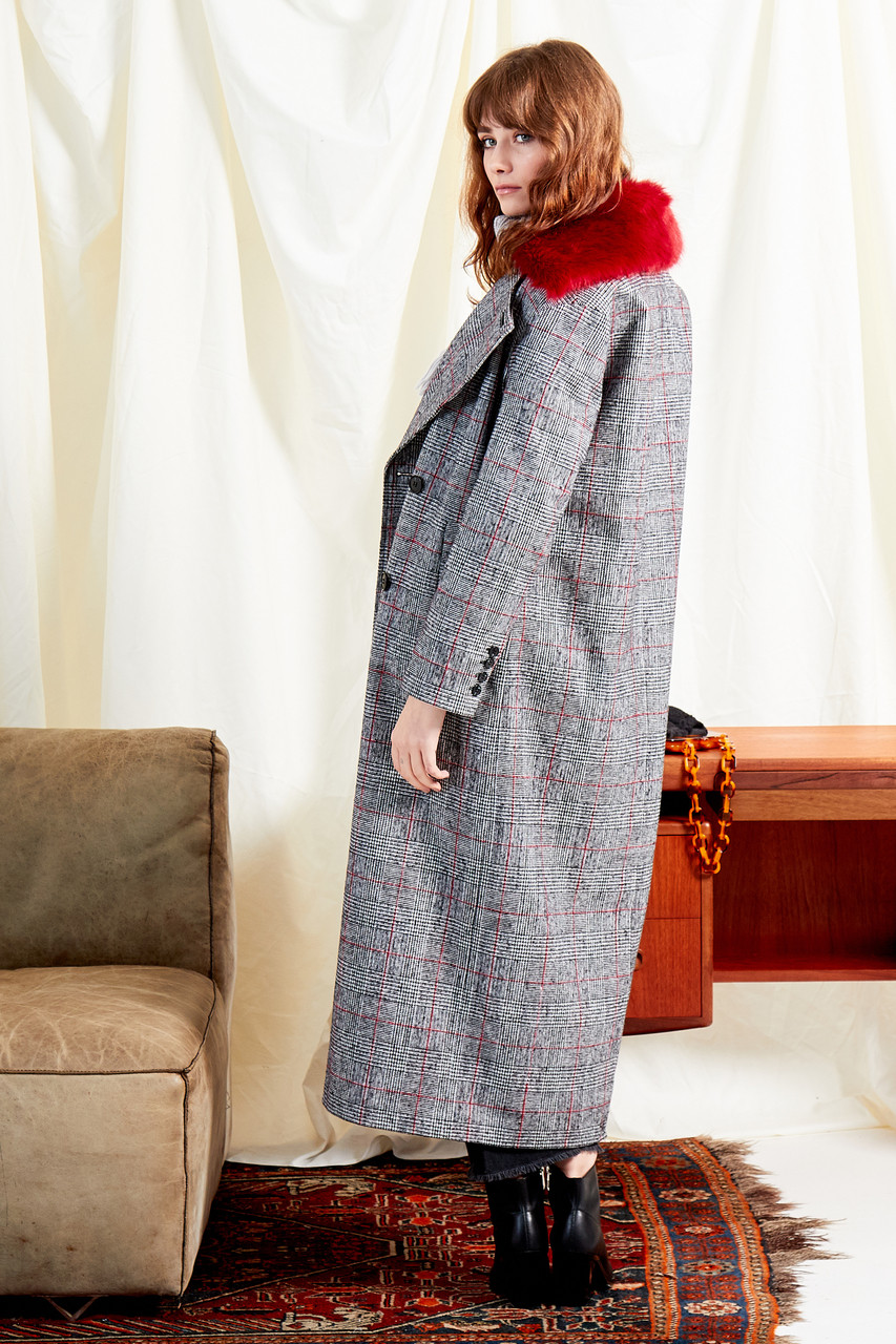 Heritage Check Oversized Maxi Coat