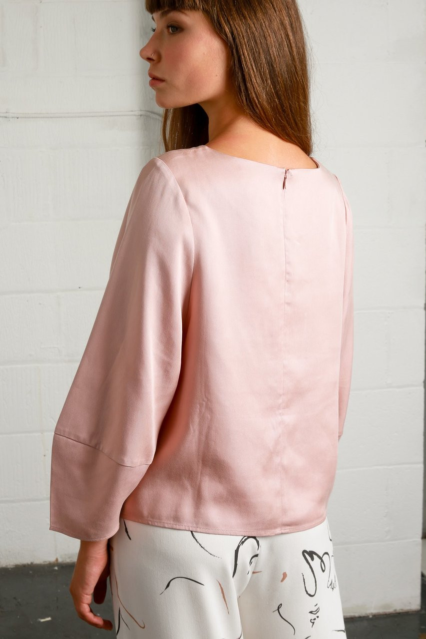 OXFORD BLOUSE - DUSTY PINK
