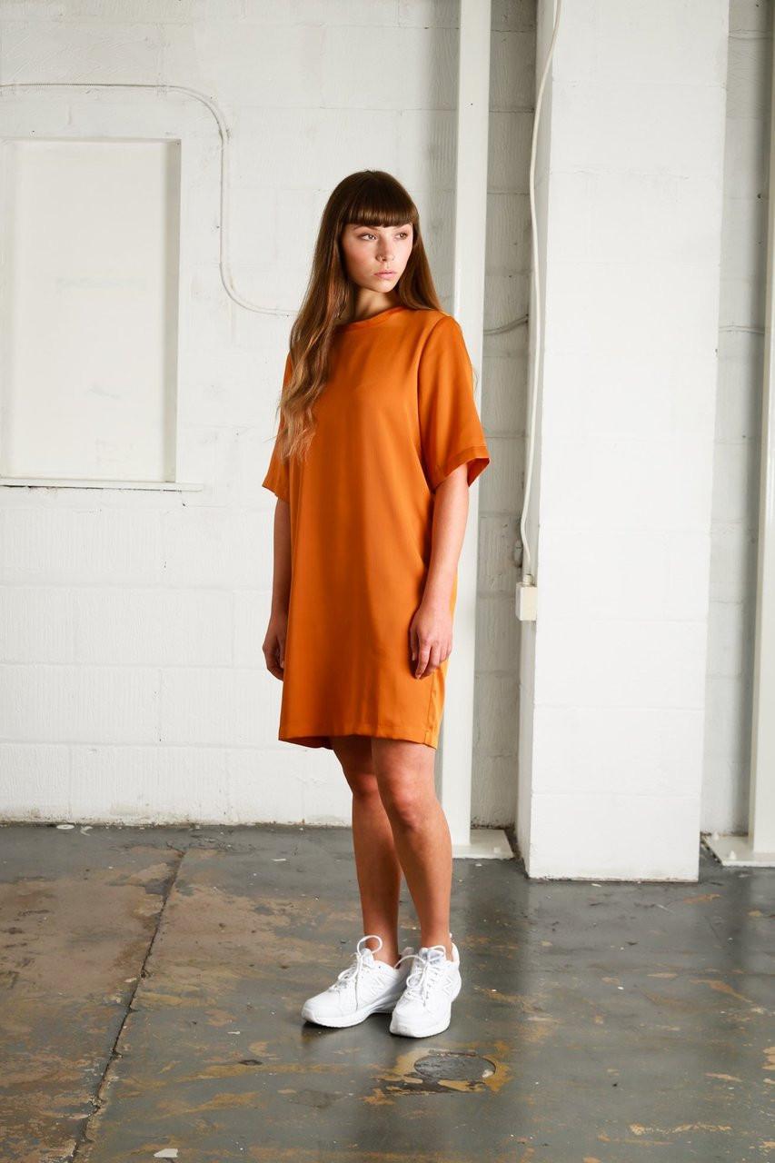 BEAUVALE DRESS - RUST
