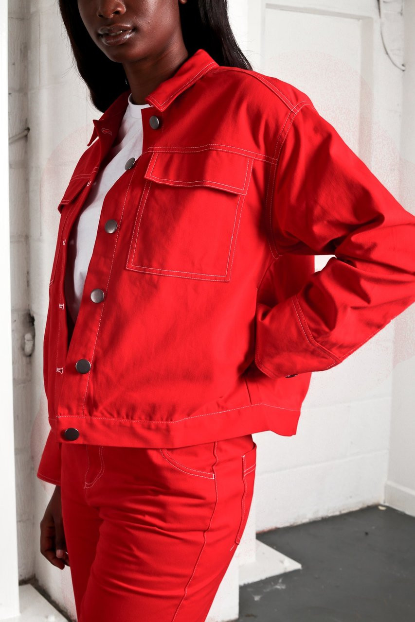 RED ALEXANDRA JACKET