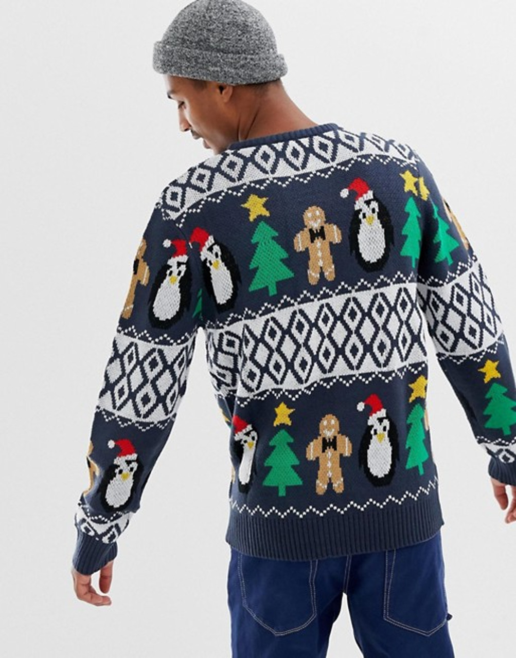 Navy Christmas Gingerbread Jumper