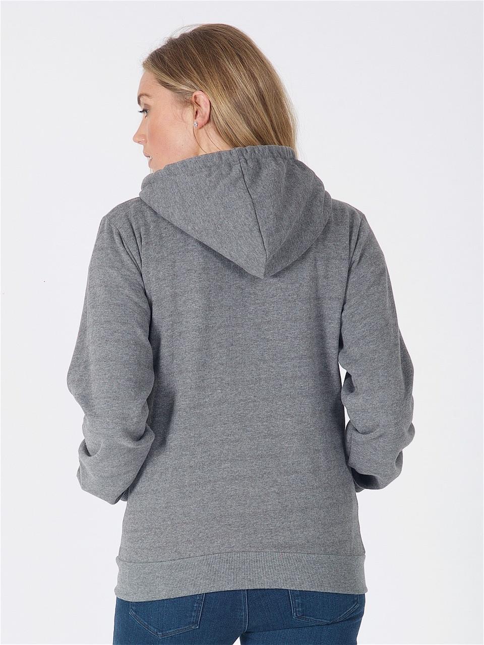 Jersey Zip Hoodie in Charcoal