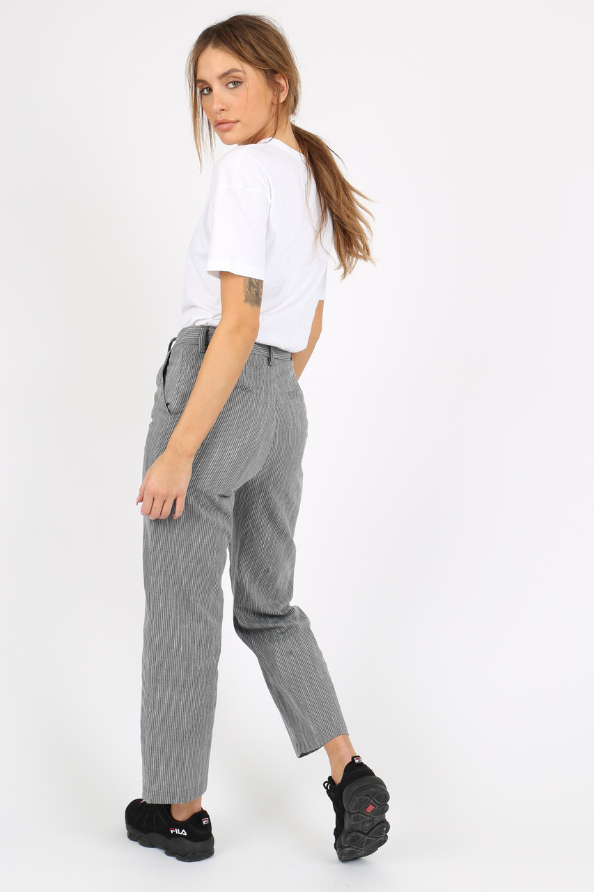 Grey Stripe Vintage Fit Trouser